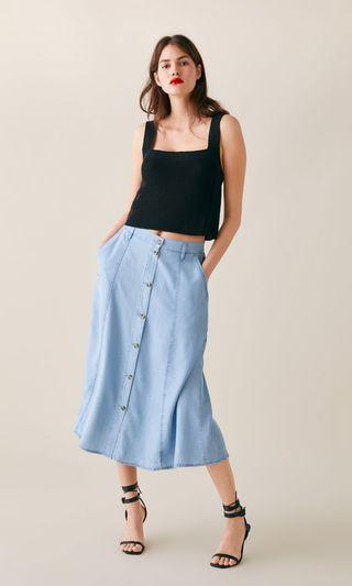 New with tag zara buttoned skirt
