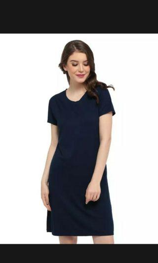 NEW Navy Dress tee spandex fit to 60kg