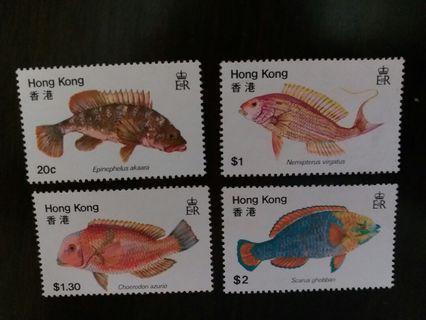 香港魚類郵票