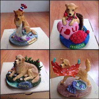 Month of Dogs Figurines