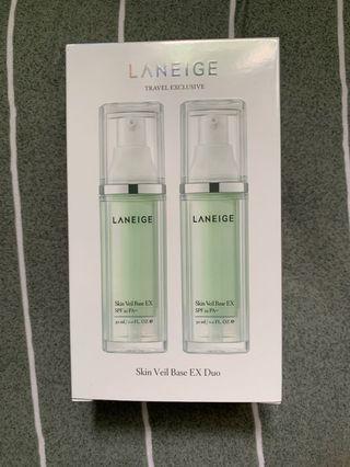 LANEÍGE Skin Veil Base EX Duo 雪紗絲柔防晒霜 兩支裝 一盒 LANEIGE