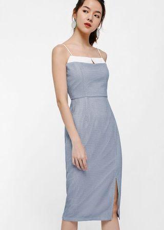Yuleane Textured Midi Dress