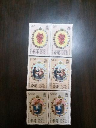 親皇大婚紀念郵票 雙連票