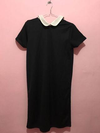 Collar black dress