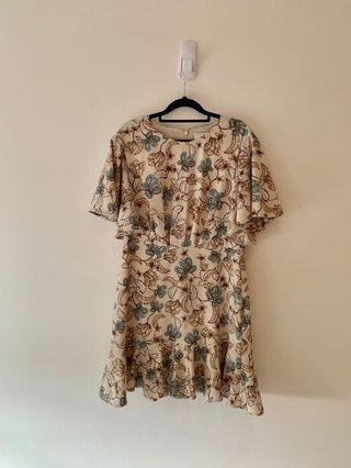 Witchery Floral Mini Dress Size 12