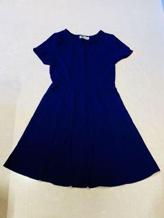 Temt Navy Blue Skater Dress