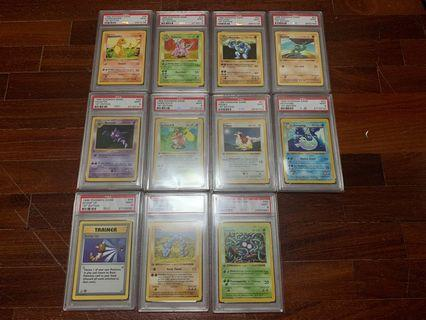 Pokemon 1st Edition Base Set Cards PSA 9