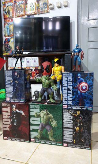 Kotobukiya ArtFx + Avengers Set (Hulk, Capt, Iron Man, Thor, B Widow)