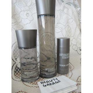 CLEARANCE ! GIORGIO ARMANI MANIA 50ml EDT + 100ml After Shave lotion Splash + Balm Set Men Pour Homme Perfume Set !
