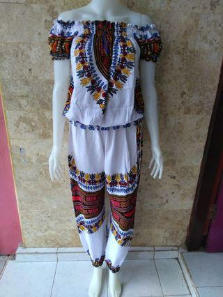Dashiki Long Jumpsuit