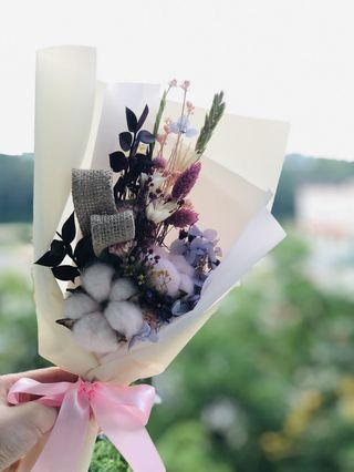 INSTOCK 🌸 Mixed Dried Flowers Bouquet with Cotton Flower