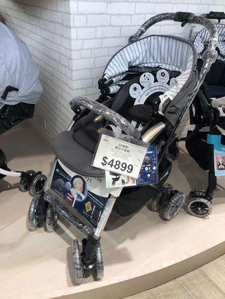 Combi 嬰兒車/BB車,9.5成新。銀灰色,原價HKD4899 (型號:Umbretta 4CAS,2019新款)