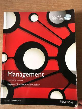 SUSS MANAGEMENT ( 13th edition ) by Stephen P Robbins