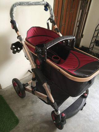 Belecoo Stroller with added suspension (comes with food tray)