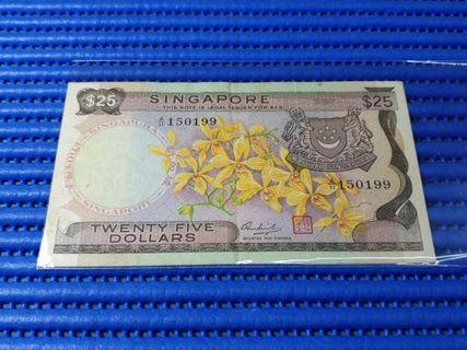 150199 Singapore Orchid Series $25 Note A/11 150199 Dollar Banknote Currency