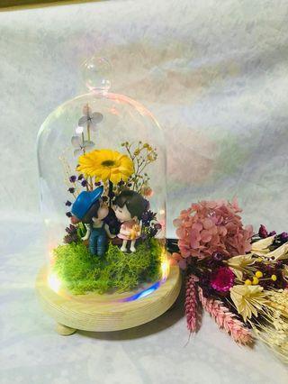 INSTOCK 💑 Preserved Gerbera Daisy Flower Dome
