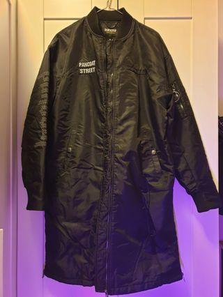 Pancoat long bomber jacket