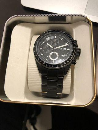Fossil Black Stainless Steal Watch