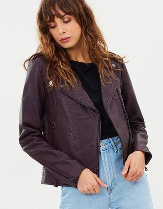 Elka Collective Carrie Genuine Leather Jacket - Size 8 RRP $600