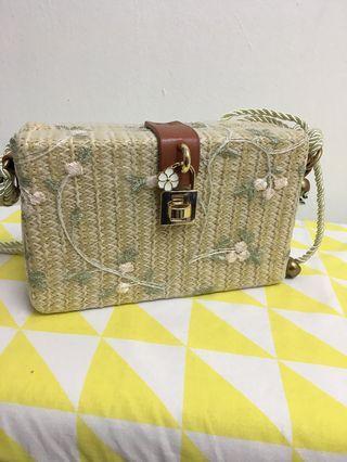 Rattan Knitting Woven Handbag