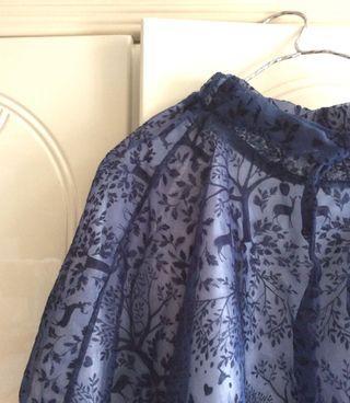 全新韓國東大門高貴風藍色裙