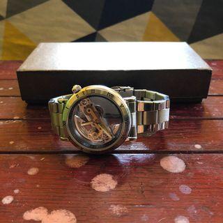 Forsining Self-Wind Automatic Mechanical Watch Silver