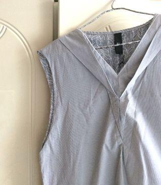 全新日本製造未拆牌灰白間連身裙