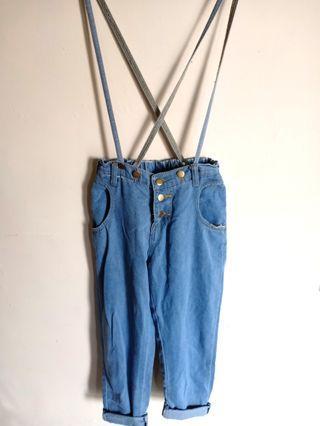Celana jeans highwaist import