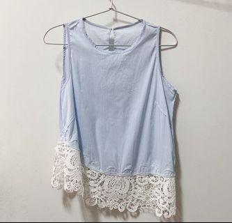 simple sleeveless lace top