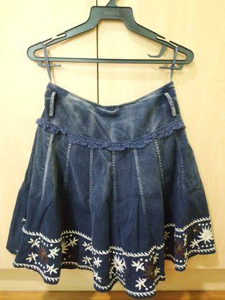 Le Ann Blue Skirt