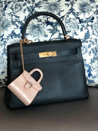 Bag charm (Python leather) Delvaux
