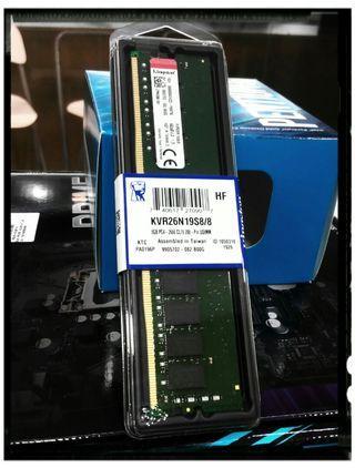 KINGSTON 8GB 2666MHZ DDR4 CL19 LONGDIMM