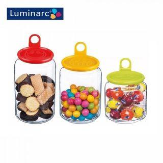 Luminarc N0837 3pcs Rondo Smiles Pot Set