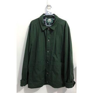 ROOTS男友風軍綠襯衫外套