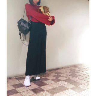 韓國鐘型袖針織上衣