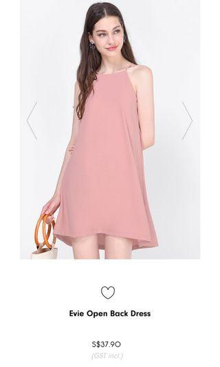 🚚 Fayth Evie Open Back Dress in Rose