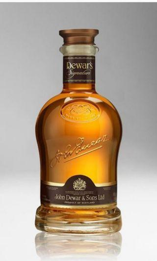 Dewar's Signature Blended Malt Whisky 威士忌750ml 無盒 95points in whisky bible