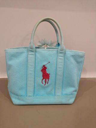 Authentic Polo Ralph Lauren Canvas Tote