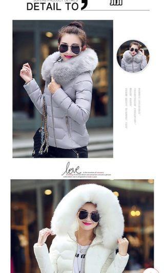 Detachable fur Ladies/ Woman Winter Jacket (5 colours available)