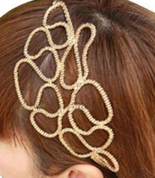 🚚 Metalic gold braided