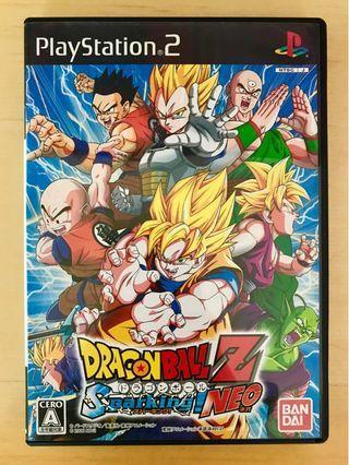 原裝 日版 PS2 遊戲 DragonBall Z Sparking! NEO 龍珠Z Playstation 2 Game NTSC J NAMCO 動作 Action 格鬥 Fighting