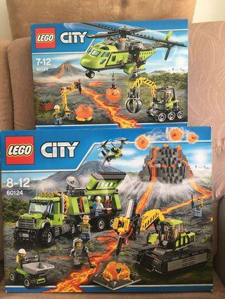 LEGO 60123 and 60124