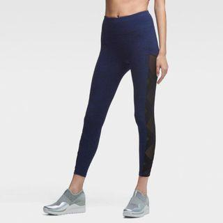 DKNY 瑜珈褲 緊身高腰 顯瘦 運動彈力健身褲 XS 黑色