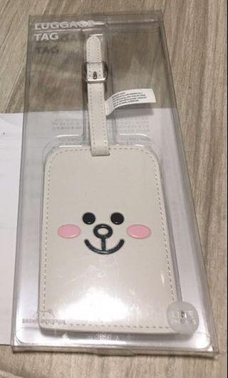 Line friends cony luggage badge
