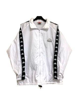 Kappa經典串標logo白色運動外套