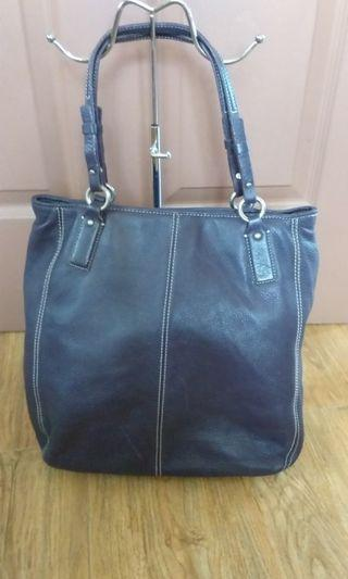 Pure leather tote bag