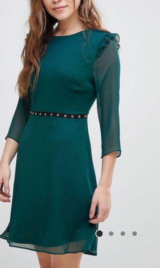 New Look Eyelet Trim Skater Dress