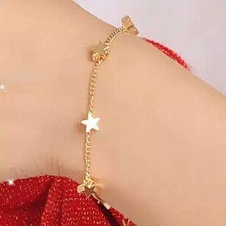 Gelang korea motif hati dan bintang