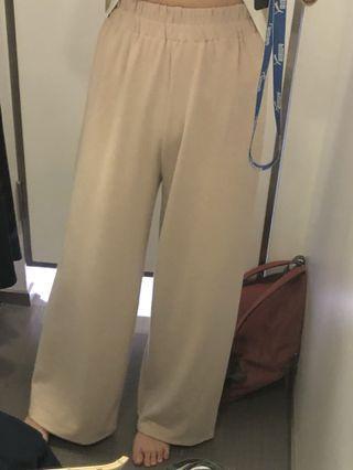 🚚 Net 修身杏色寬褲