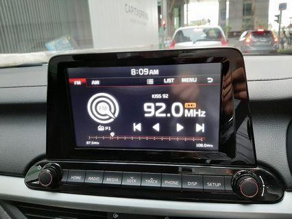 Brand new 2019 Cerato touch screen audio AV system